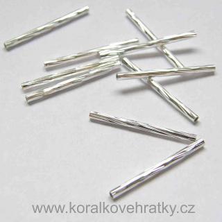 Korálek kovový trubička vroubkovaná 1 7c98706f87